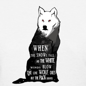 White Wolf Illustration  - Women's T-Shirt