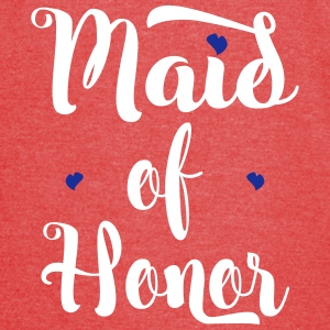 Maid of Honor Custom Script T-Shirts - Vintage Sport T-Shirt