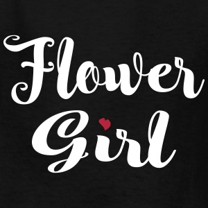 Flower Girl Script Kids' Shirts - Kids' T-Shirt