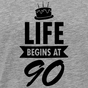 Life Begins At 90 T-Shirts - Men's Premium T-Shirt