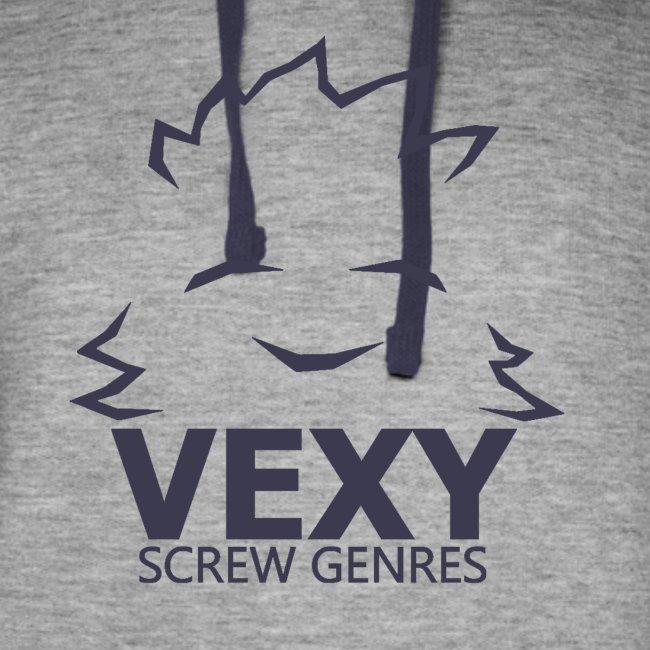 Vexy Colorblock Hoodie (Unisex) [Navy]