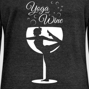 Yoga And Wine Long Sleeve Shirts - Women's Wideneck Sweatshirt