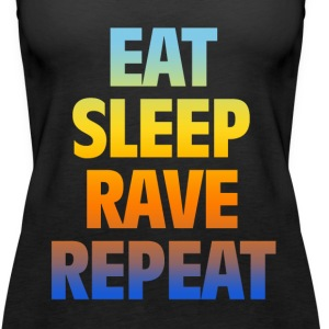 eat rave - Women's Premium Tank Top