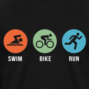 Swim Bike Run T-Shirts - Men's Premium T-Shirt