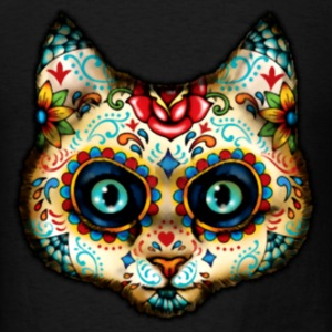 Day of Dead Cat T-Shirts - Men's T-Shirt