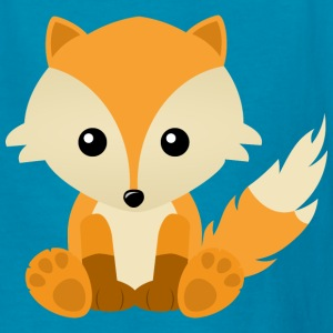 Kawaii Cute Fox Cub Cartoon - Kids' T-Shirt