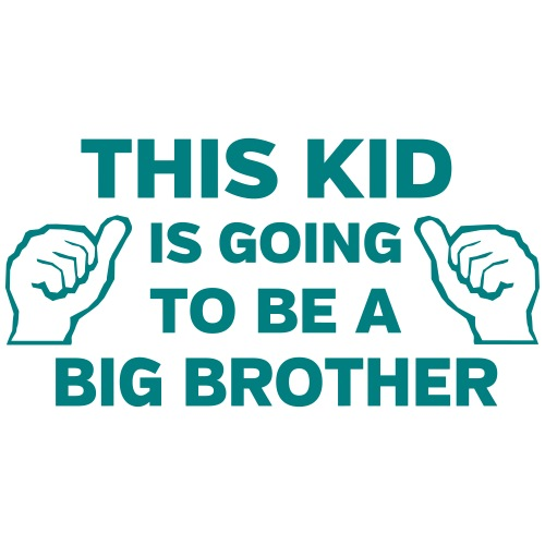 This kid is going to be a big brother
