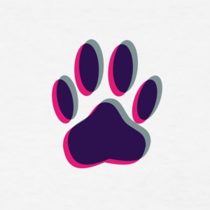 Out of Focus Dog Paw Print - Women's T-Shirt