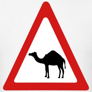 Caution Camel Traffic Sign T-Shirts - Men's T-Shirt