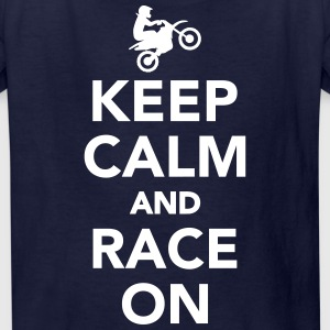 Keep calm and race on Kids' Shirts - Kids' T-Shirt