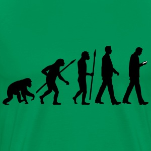 evolution_of_man_smartphone01_2c T-Shirts - Men's Premium T-Shirt