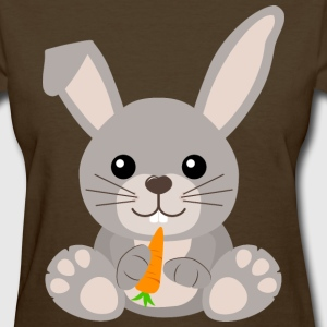 Kawaii Cute Bunny Rabbit Cartoon - Women's T-Shirt