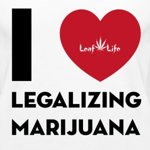 I Heart Legalizing Marijuana  - Women's Premium Tank Top