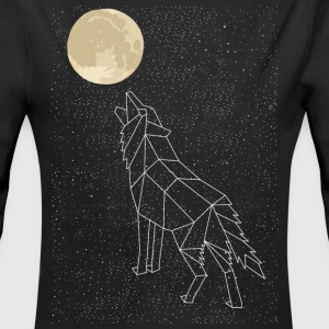 Wolf Howling At Moon Constellation Baby Bodysuits - Long Sleeve Baby Bodysuit
