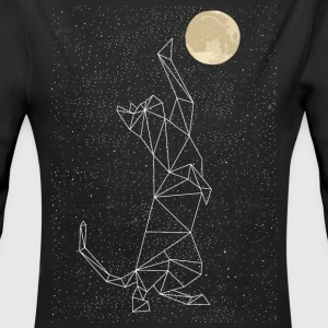 Cat Constellation Reaching For Moon Baby Bodysuits - Long Sleeve Baby Bodysuit