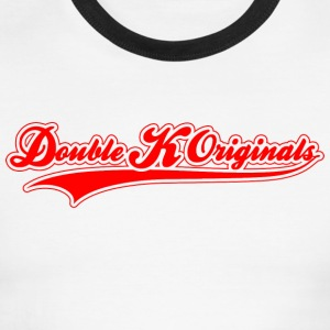 Red, blank & Red Border Double K Originals T-Shirts - Men's Ringer T-Shirt