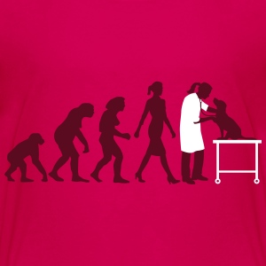 evolution_of_woman_tierarztin01_2c Kids' Shirts - Kids' Premium T-Shirt