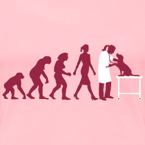 evolution_of_woman_tierarztin02_2c Women's T-Shirts - Women's Premium T-Shirt