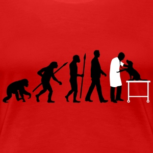 evolution_of_man_tierarzt01_2c Women's T-Shirts - Women's Premium T-Shirt