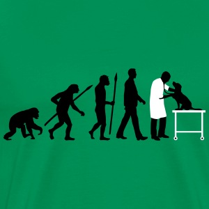 evolution_of_man_tierarzt02_2c T-Shirts - Men's Premium T-Shirt