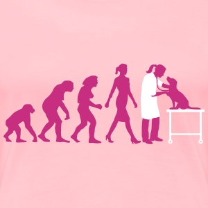 evolution_of_woman_tierarztin01_2c Women's T-Shirts - Women's Premium T-Shirt