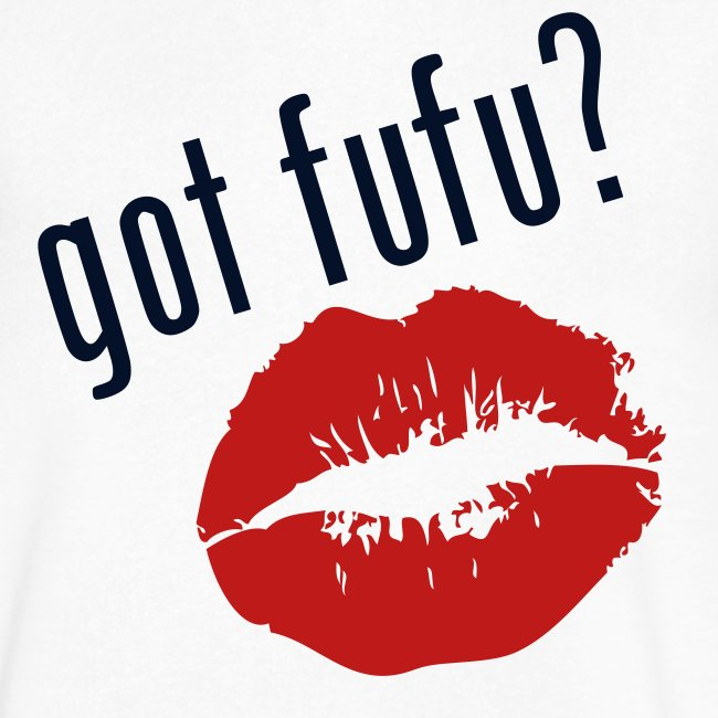 Mens - Next Level Tee - gotfufu - Kiss - White - Black Glits - Red Velvet