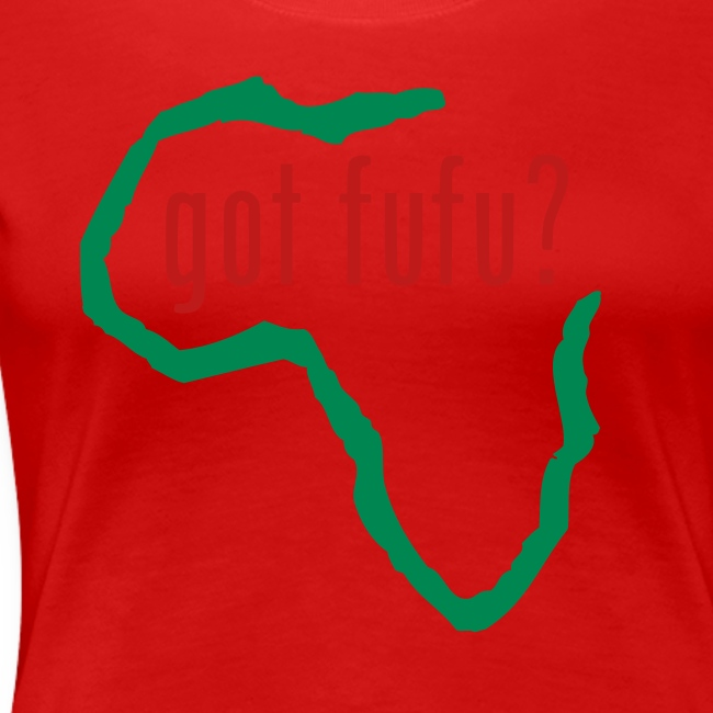 Ladies - Premium Tee - Black - Africa - Green - gotfufu Red Glitz