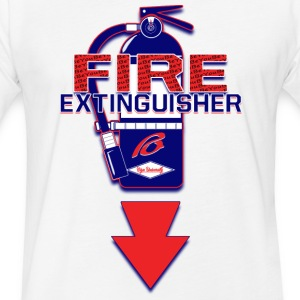 Fire Extingisher Design T T-Shirts - Fitted Cotton/Poly T-Shirt by Next Level