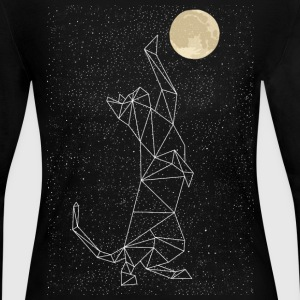 Cat Constellation Reaching For Moon Long Sleeve Shirts - Women's Long Sleeve Jersey T-Shirt
