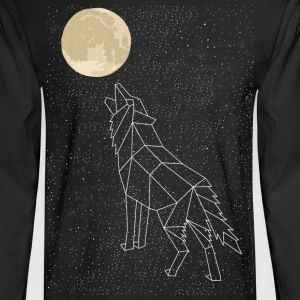 Wolf Howling At Moon Constellation Long Sleeve Shirts - Men's Long Sleeve T-Shirt