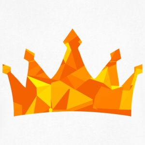 Crown (Low Poly) T-Shirts - Men's V-Neck T-Shirt by Canvas