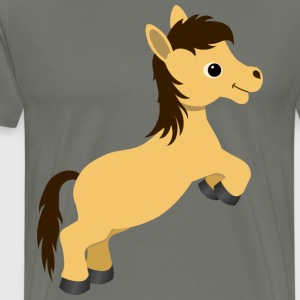 Cute Dun Pony Horse - Men's Premium T-Shirt