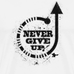 Never give up black T-Shirts - Men's Premium T-Shirt