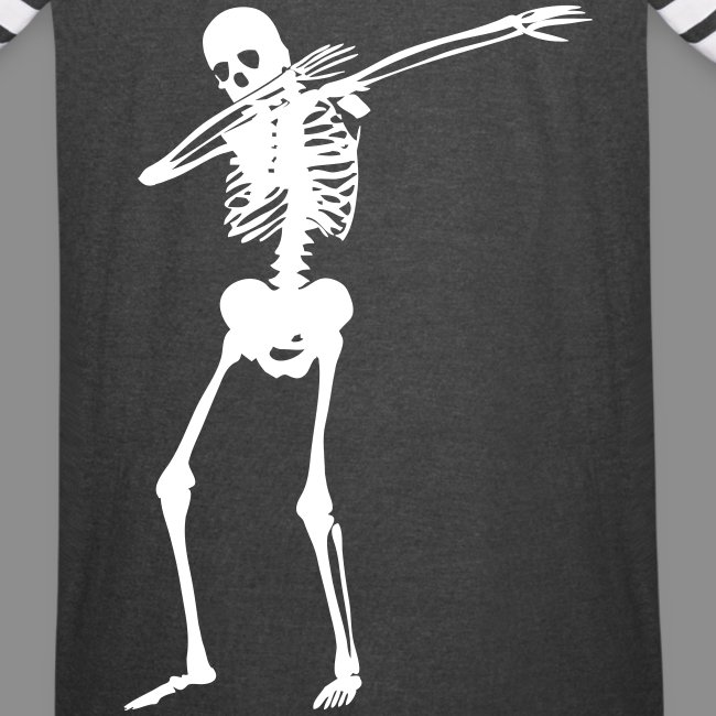 Dab Skeleton Vintage Sports Shirt