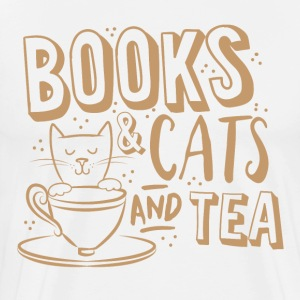 books and cats and tea T-Shirts - Men's Premium T-Shirt