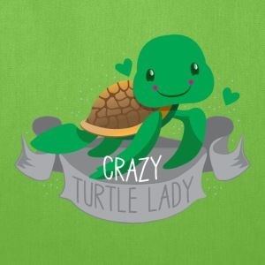 crazy turtle lady banner Bags & backpacks - Tote Bag
