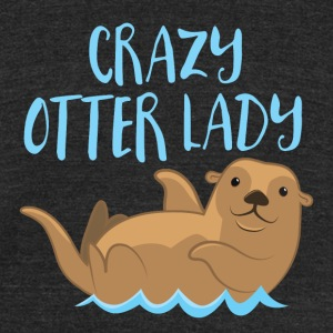 crazy otter lady T-Shirts - Unisex Tri-Blend T-Shirt by American Apparel