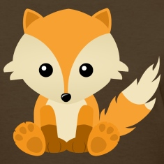 Kawaii Cute Fox Cub Cartoon