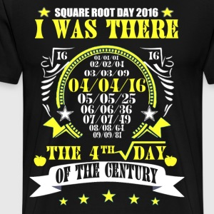 Square Root Day 4/4/16 T-shirts - Men's Premium T-Shirt