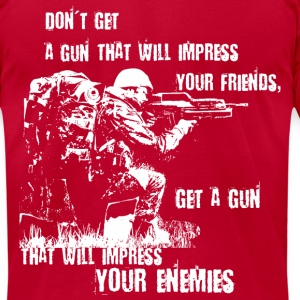 Impress Your Enemies - Men's T-Shirt by American Apparel