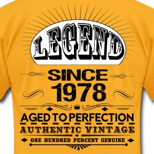 LEGEND SINCE 1978 T-Shirts - Men's T-Shirt by American Apparel