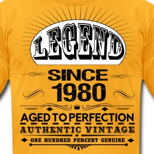 LEGEND SINCE 1980 T-Shirts - Men's T-Shirt by American Apparel