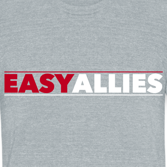 Gray Easy Allies Red Logo T-Shirt