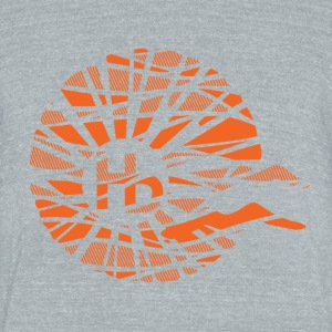 hb distressed logo - Unisex Tri-Blend T-Shirt by American Apparel