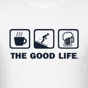 Coffee Skiing Beer - Men's T-Shirt