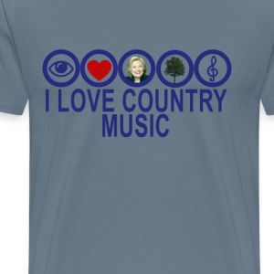 anti_hillary__i_love_country_music_dark_ - Men's Premium T-Shirt