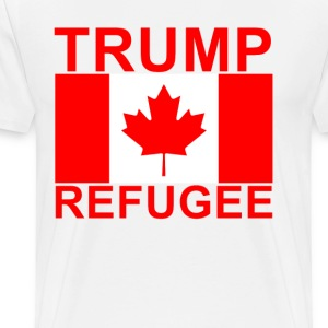 canadian_trump_refugee_with_flag__red - Men's Premium T-Shirt