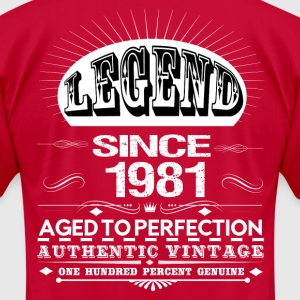 LEGEND SINCE 1981 T-Shirts - Men's T-Shirt by American Apparel