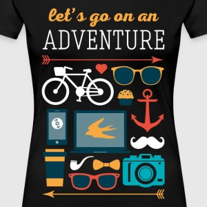 Let's go on an adventure Traveling T Shirt Women's T-Shirts - Women's Premium T-Shirt