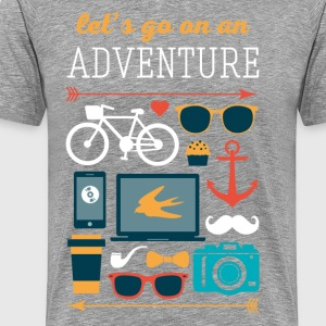 Let's go on an adventure Traveling T Shirt T-Shirts - Men's Premium T-Shirt